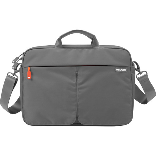 "Incase Designs Corp CL60035 Nylon Sling Sleeve for 13"" MacBook Pro (Dark Gray/ Red Orange)"