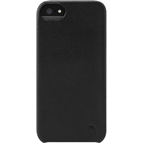 Incase Designs Corp Leather Snap Case for iPhone 5 (Black)