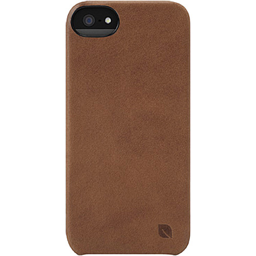 Incase Designs Corp Leather Snap Case for iPhone 5 (Brown)