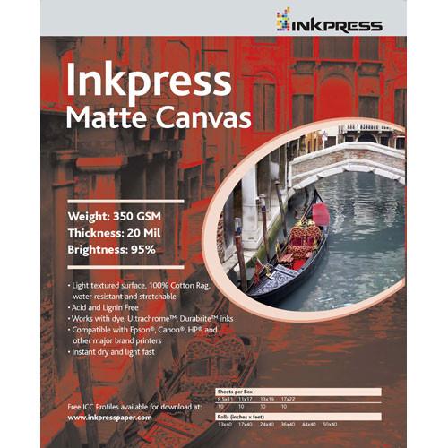"Inkpress Media Matte Canvas - 8.5 x 11"" (Letter) (50 Sheets)"