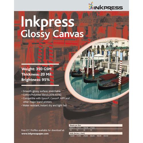 """Inkpress Media Glossy Canvas - 13 x 19"""" (Super-B) (50 Sheets)"""