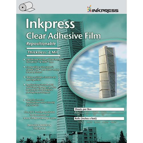 """Inkpress Media Clear Adhesive Film Roll (42""""x75')"""