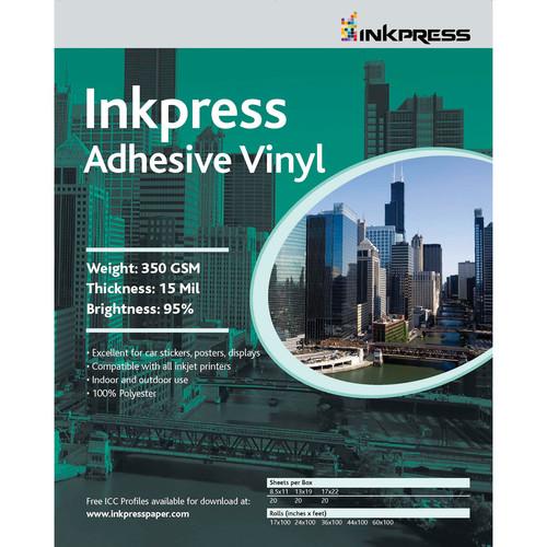 "Inkpress Media Adhesive Vinyl (8.5x11"" - 5 Sheets)"