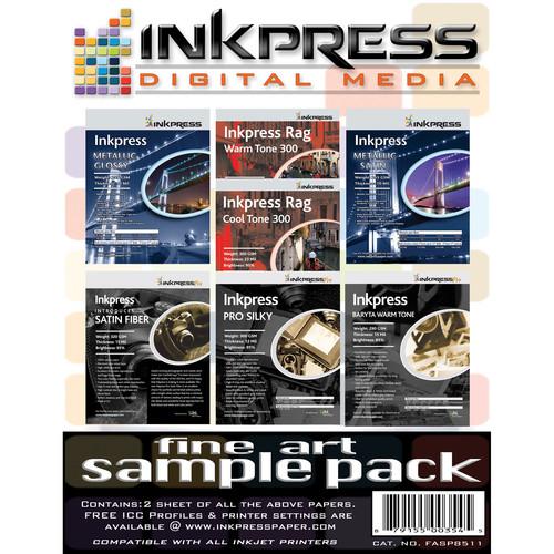 "Inkpress Media Fine Art Sample Pack (8.5x11"" - 14 Sheets)"