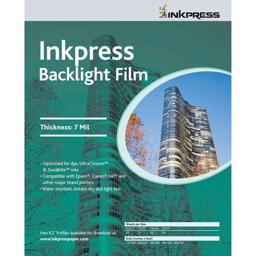 "Inkpress Media Backlight Film (8.5 x 11"", 5 Sheets)"