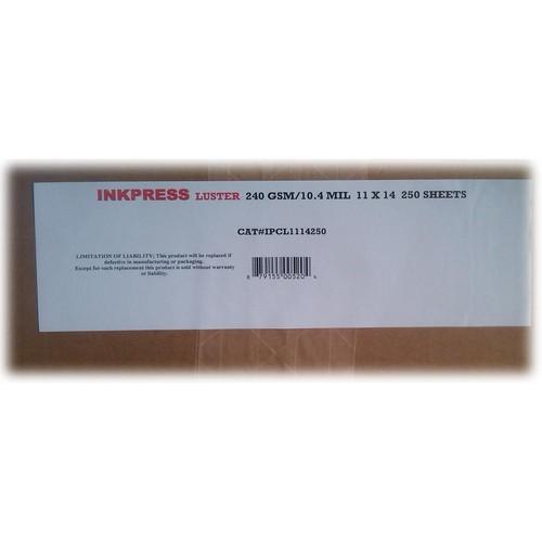"Inkpress Media Luster RC Inkjet Photo-Grade Paper 10 mil/240 gsm 11 x 14"" 250-Sheets"