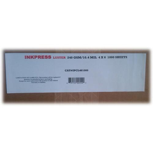 "Inkpress Media Luster RC Inkjet Photo-Grade Paper 10 mil/240 gsm 4 x 6"" 1000-Sheets"