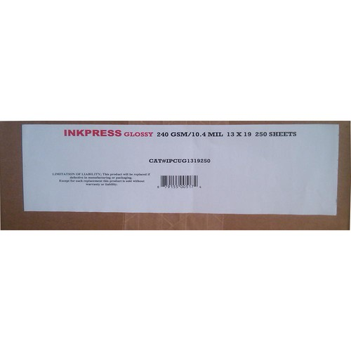 "Inkpress Media RC Glossy Inkjet Paper (240gsm) - 13 x 19"" 250 Sheets"