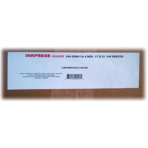 "Inkpress Media RC Glossy Inkjet Paper (240gsm) -  17 x 22"" 240 Sheets"