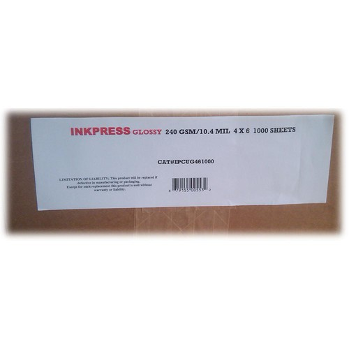 "Inkpress Media RC Glossy Inkjet Paper (240gsm) - 4 x 6"" 1000 Sheets"
