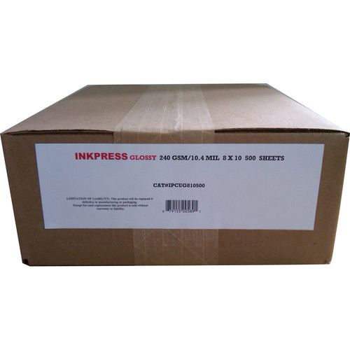 "Inkpress Media RC Glossy Inkjet Paper 8 x 10"" /500 Sheets"