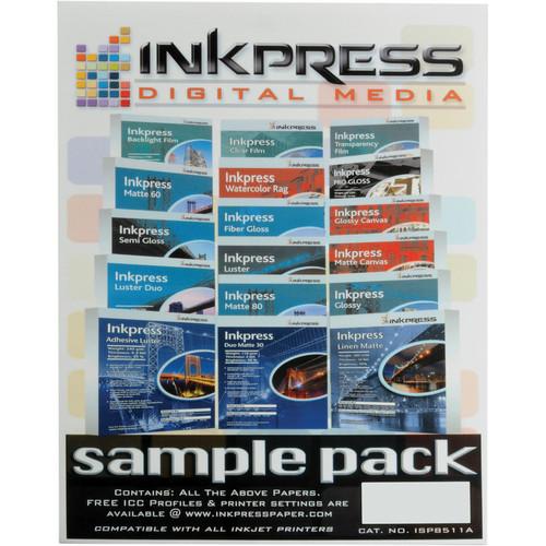 "Inkpress Media Sample Pack (8.5x11"" - 17 Sheets)"