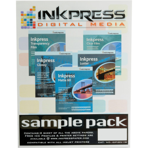 "Inkpress Media Sample Pack (8.5x11"" - 10 Sheets)"