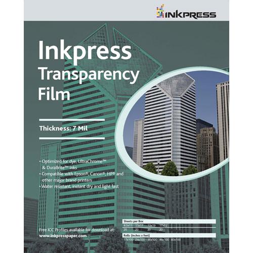 """Inkpress Media Transparency Film for Inkjet Printers (13 x 19"""", 50 Sheets)"""