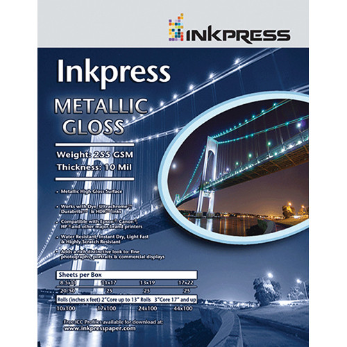 """Inkpress Media Metallic Gloss (5.0x7.0"""" - 50 Sheets)"""