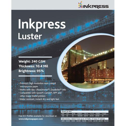 "Inkpress Media Luster Paper (11 x 14"", 100 Sheets)"