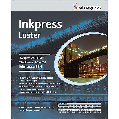 "Inkpress Media Luster Paper (13 x 19"", 50 Sheets)"