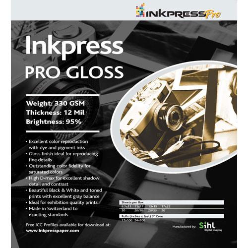 "Inkpress Media Pro Glossy Paper (13 x 19"", 20 Sheets)"