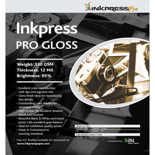 "Inkpress Media Pro Glossy Paper (8.5 x 11"", 5 Sheets)"