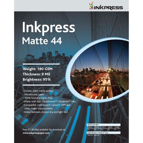 "Inkpress Media Duo Matte 44 (8.5x11"" - 5 Sheets)"