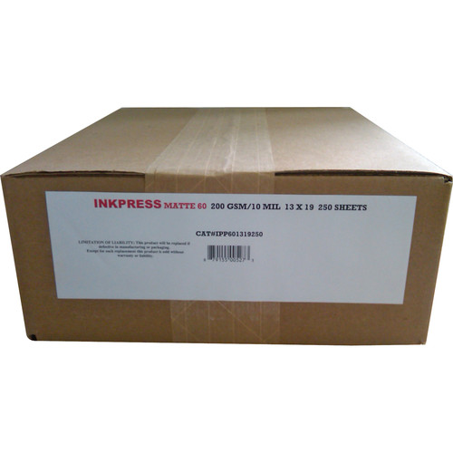 "Inkpress Media Matte 60 Bright White Inkjet Paper 10 mil/200 gsm 13 x 19"""