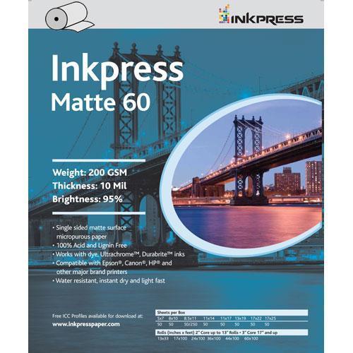 """Inkpress Media Matte 60 Paper (17"""" x 100' Roll)"""