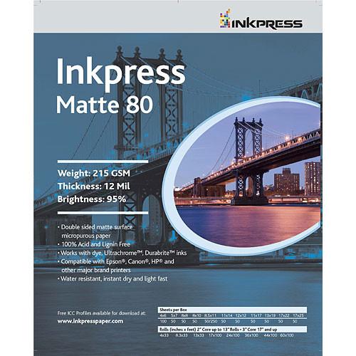 "Inkpress Media Duo Matte 80 Paper (11 x 14"", 50 Sheets)"