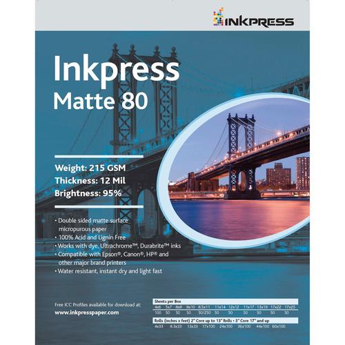 "Inkpress Media Duo Matte 80 Paper (8.5 x 11"", 5 Sheets)"