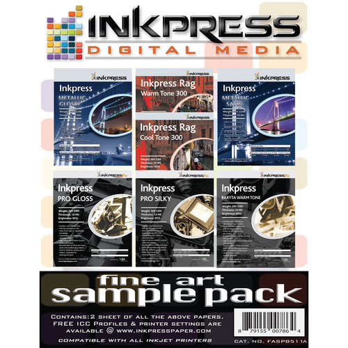 "Inkpress Media Fine Art Sample Pack (8.5x11"")"