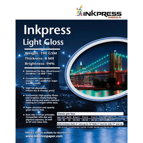 "Inkpress Media Light Gloss (8.5x11"" - 100 Sheets)"