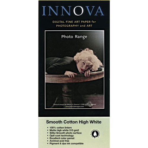 "Innova Smooth Cotton High White Archival Photo Inkjet Paper (60"" x 49.2')"