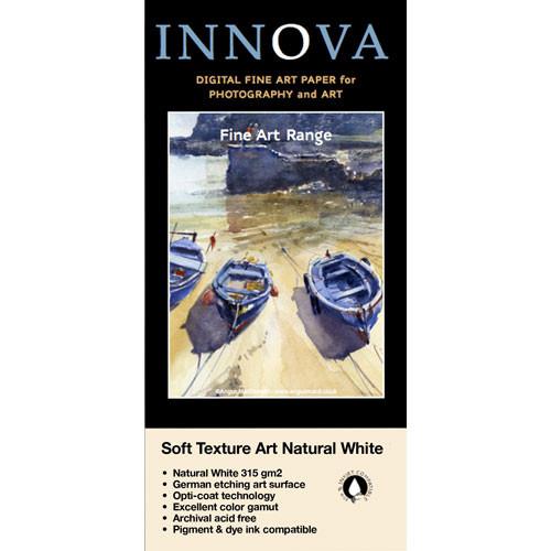 "Innova Fine Art Soft Texture Natural White Archival Inkjet Paper (315 gsm, 17"" x 48.75' Roll)"