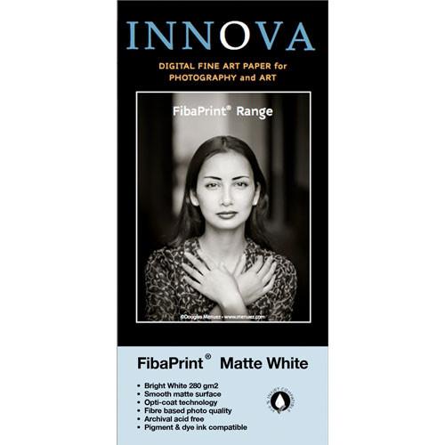 """Innova FibaPrint White Matte Inkjet Photo Paper (280gsm) 8.5x11"""" - 50 Sheets"""