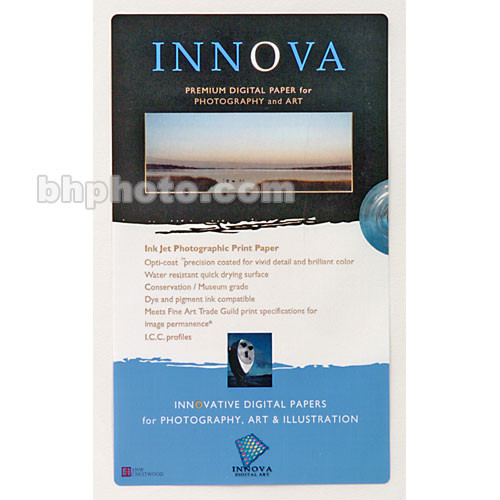 Innova Fine Art Photo Paper Sampler Pack - 8.5x11 (Letter) / 8 Sheets
