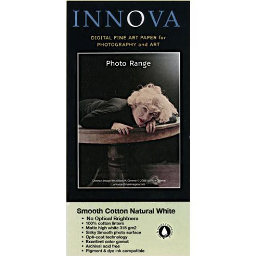 "Innova Photo Smooth Cotton Natural White - 8.5 x 11"" Sheets (315gsm)"