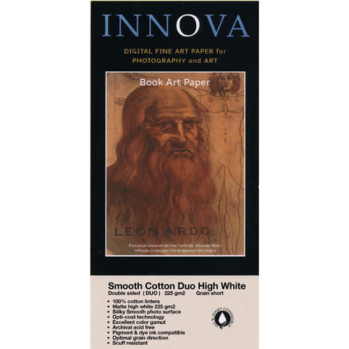 "Innova Smooth Cotton Duo High White Paper (225 gsm, 2-Sided) - 8.5x11"" - 25 Sheets"