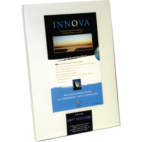 "Innova Smooth Cotton High White Paper (8.5 x 11"", 25 Sheets)"