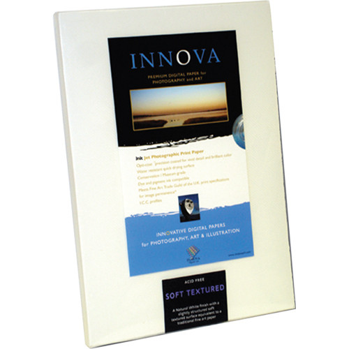 """Innova Smooth Cotton Natural White Paper (13 x 19"""", 25 Sheets)"""