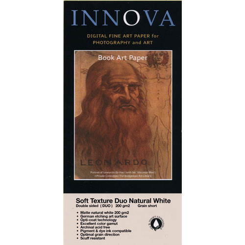"Innova Soft Textured Natural White Paper (200gsm, 2-Sided) - 17x22"" - 25 Sheets"