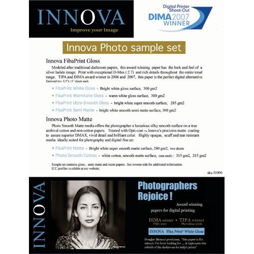 Innova Fibaprint Photo Paper Sampler Pack - 8.5x11 (Letter) - 12 Sheets