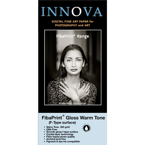 "Innova FibaPrint Warm Glossy Inkjet Photo Paper (300 gsm) 17x22"" - 25 Sheets"