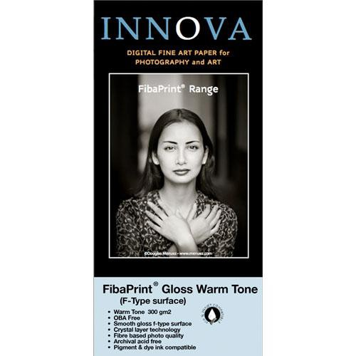 """Innova FibaPrint Warm Tone Glossy Inkjet Paper 300 gsm 60"""" x 75' Roll"""