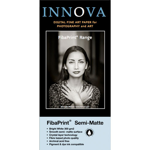 "Innova FibaPrint White Semi-Matte Inkjet Photo Paper (13 x 19"", 50 Sheets)"