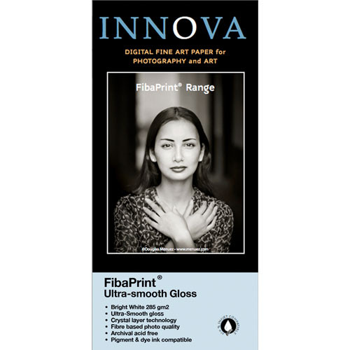 "Innova FibaPrint Ultra-Smooth Glossy Inkjet Photo Paper 36"" x 49.2' Roll"