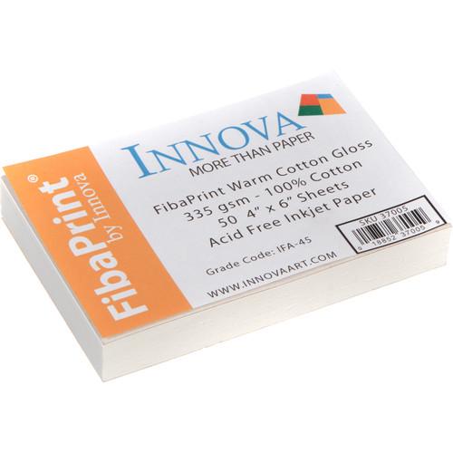 "Innova FibaPrint Warm Cotton Gloss (4 x 6"", 50 Sheets)"