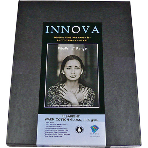 "Innova FibaPrint Warm Cotton Gloss (11 x 17"", 25 Sheets)"