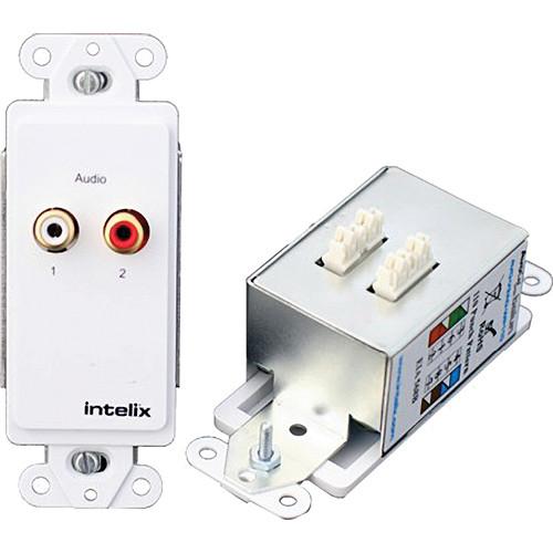 Intelix Stereo Audio Wallplate Balun (Cat 5, Cat 6, Cat 7)
