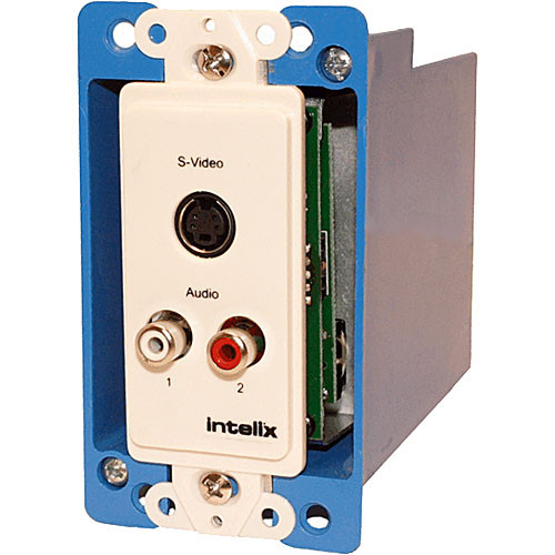 Intelix AVO-SVA2-WP-F Cat-5 Stereo Audio and S-Video Wallplate Balun