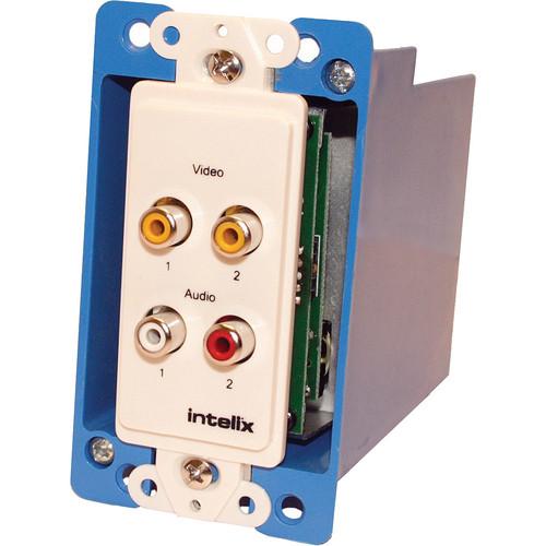 Intelix AVO-V2A2-WP-F Composite Video & Audio Wallplate Balun