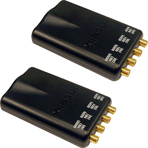 Intelix AVO-V3AD-F Digital Audio and Component Video CAT-5 Balun (Pair)